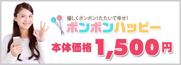 肩こり・不眠症の解消グッズ ポンポンハッピー 本体価格1,500円
